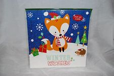 PaperCraft 3D CHRISTMAS GREETING POP UP CARD WINTER WISHES RED FOX OWL