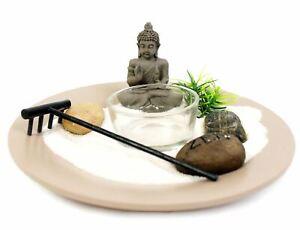 Buddha Zen Garden Tea Light Holder - Tealight Candle Holder - Colour Varies