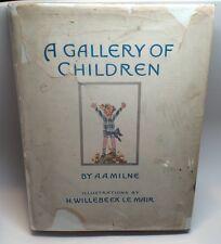 AA Milne eine Galerie für Kinder Farbe Abbild. Bilderbuch Le Mair 1st ED DJ 1925