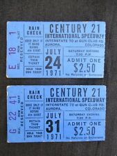 VINTAGE 1971 CENTURY 21 INTERNATIONAL SPEEDWAY CAR RACE TICKET AURORA, COLORADO