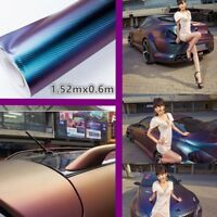 New Car Purple/blue color change vinyl Wrap Film Sticker Decal AIR FREE BUBBLE