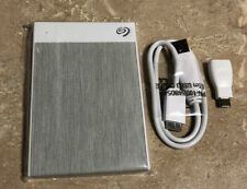 Seagate Backup Plus USB 3.0 2TB  Ultra Touch External Hard Drive. White.*NO BOX*