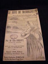 Partition Le rêve du mandoliste N°30 Honoré pion Music Sheet