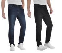 Men's Slim Fit Jeans Blue Indigo Black Denim Size W30, W32, W34, W36 L32 Stretch