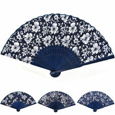Folding Hand Fan Classic Fans Chinese Fans Fabric Floral Dance Favor Pocket Fan