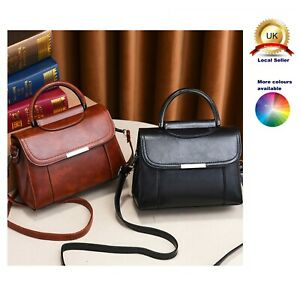 Lovely Retro Small Tote Shoulder Commuting Handbag Woman Lady Faux Leather Bag