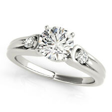0.60 Carat Total Weight Petite Three Stone Diamond Engagement Ring - GIA graded