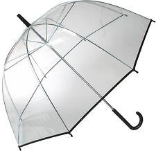 Ombrello ombrellone BLACK LINE CUPOLA TRASPARENTE-Ombrello Bastone ombrello NUOVO