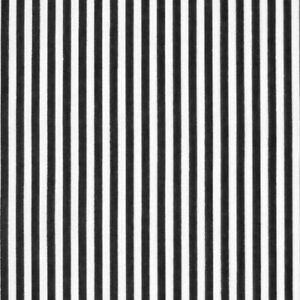 Black Stripe Polycotton Fabric Striped Lines Material Craft 3mm Per METRE