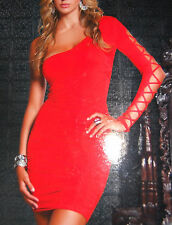Forplay Born in Hollywood Red Casual Clubwear Womens Dress Size M NEW