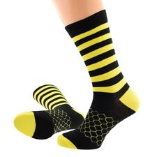 Bee colour Blk & Yellow Striped  Novelty Mens or Ladies Cotton mix Socks  X6S225
