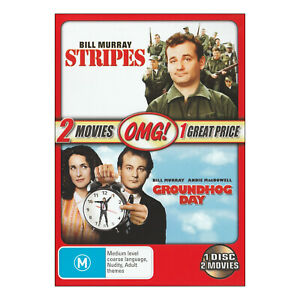 Stripes / Groundhog Day DVD New - Bill Murray, Andie McDowell  - Free Post