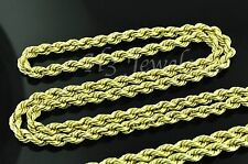 14k solid yellow gold hollow rope chain necklace 18 inches 5.00 grams #3530
