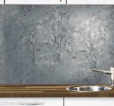 Küchennischen Deko SET Wand Küchen Spritzschutz Wandschutz Motiv BETON Matt 68