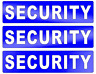 3 X REFLECTIVE SECURITY BADGE STYLE STICKER DECALS    (s329)