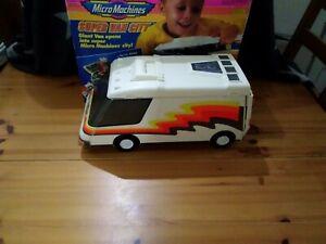 Vintage Micro Machines Super Van City Playset, 1991, Galoob, Boxed