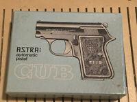 Vintage Astra Cub Pistol Short Original Box And Paperwork
