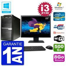 "PC Acer Veriton M4630G MT Ecran 22"" i3-4130 RAM 8Go Disque 500Go DVD Wifi W7"