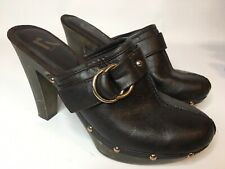 Rockport Mule Clogs High Heels Studded Shoes Women's 10 Brown