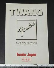 05660 TWANG 2008 Collection Fender Catalog Kanda Shokai from Japan