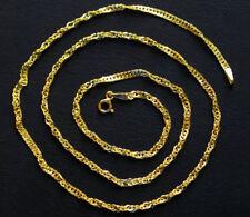 Gold 585 Gelbgold Kette wunderschöne lange Singapurkette 14Kt Goldkette & Etui