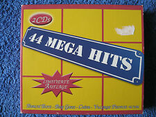 2 Musik CD Box 44 Mega Hits Beach Boys Bee Gess Cher Village People