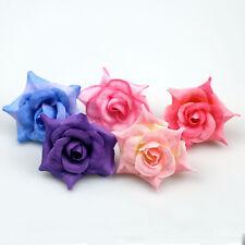 10-100Pcs Artificial Silk Rose Flower Heads Bulk Fake Flower Craft Wedding Decor