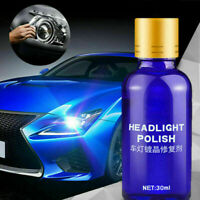 30ml Car Headlight Polishing Fluid Restoration Kit Scratch Repair Polish Tool