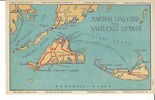 POSTCARD MARTHA'S VINEYARD AND NANTUCKET ISLANDS