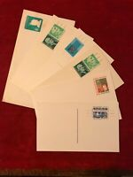 Vintage mixed lot of 6 Postal Covers - See Photos.   #A2003-08