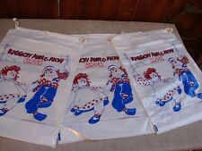 3 VINTAGE 1977 Bobbs-Merrill Raggedy Ann & Andy OLD STORE STOCK SHOE BAGS SACKS