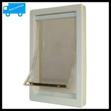 15x20 in Extra Large Pet Door Magnetic XL Dog Cat Flap Lockable Panel Gate Frame