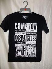 Matalan Boys Short Sleeve Black Letter Print 100% Cotton T-Shirt  Size 12 Years