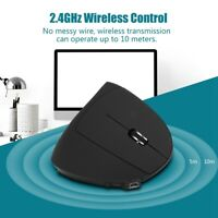 2.4G Rechargeable Wireless Ergonomic Vertical Optical Mouse 1600 DPI Mice For PC