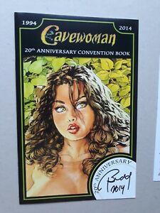 CAVEWOMAN ORIGINAL ART 1/1 20th Ann Convention Book Signed Budd Root TWICE 2014