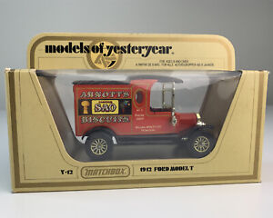 "Matchbox ""Models of Yesteryear"" Y12 1912 Ford ARNOTTS SAO Van"