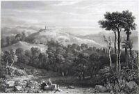 Greece, Aegina TEMPLE APHAIA APHAEA AFEA RUIN JUPITER ~ 1829 Art Print Engraving