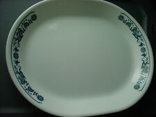 CORELLE OLD TOWN BLUE 12.25 IN OVAL SERVING PLATTER VGUC FREE USA SHIPPING