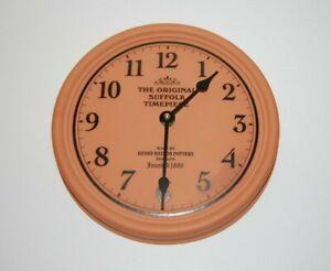 The Original Suffolk Timepiece Terracotta Wall Clock Henry Watson Pottery