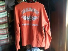 Harley-Davidson Orange Longsleeve Sz L Lake of the Ozarks Shop Osage Beach, Mo.