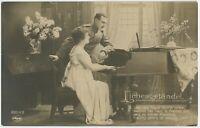 Soldier Sweetheart Hardenbeck 1918 Patriotic German WW1 Postcard (2060)