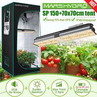 Mars Hydro SP 150 LED Grow Lights Strip Lamp+70x70x160cm Indoor Grow Tent Kit
