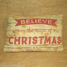 Believe In The Magic Of Christmas Decorative Throw Pillow Primitives by Kathy
