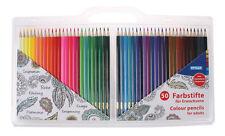 50 Dreikant-Buntstifte für Erwachsene / lackiert / 50 verschiedene Farben