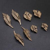 Leaves Cabinet Knob Door Drawer Pull Cupboard Dresser Handle Home Decor DIY