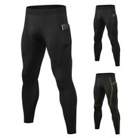 Men Compression Pants Baselayer Quick Dry Sports Gym Leggings Running Trousers