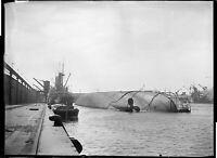 Lot 15 négatifs verre plaque photo ancien Bateau navire Melpomène échoué an.1920