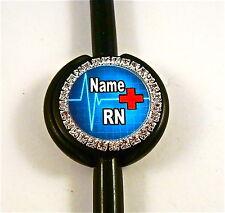 ID STETHOSCOPE NAME TAG BLING MEDICAL,RED CROSS,EKG, RN,MEDICAL,ER,MA,VET TECH,