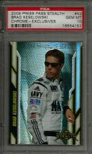 2008 Press Pass Stealth Exclusives #43 Brad Keselowski RC PSA 10 GEM MINT #d /25