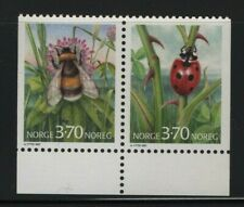 Norway Stamps 1997 Sg1277-1278  Booklet Stamps, Insects Unmounted Mint MNH